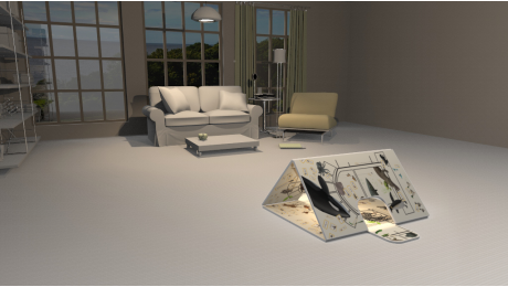 3D AR MAT - House Tent No.1