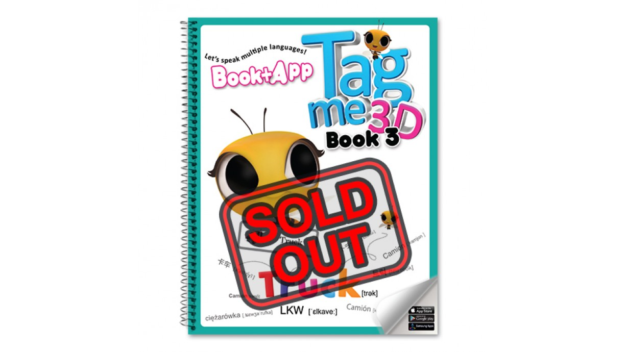 Tagme3D Book 3 (Spring cover + 100 Words Sticker Book) - Sold Out